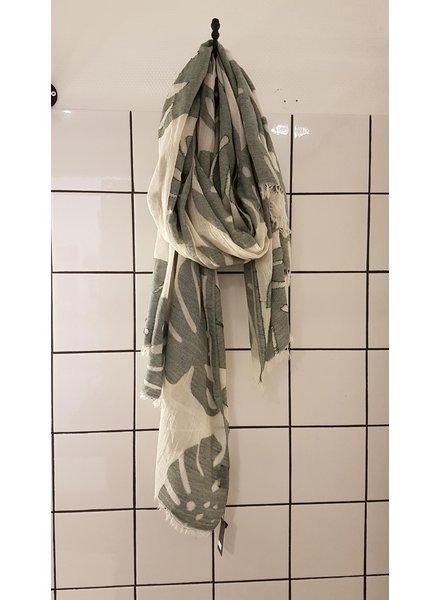 sjaal monstera groen