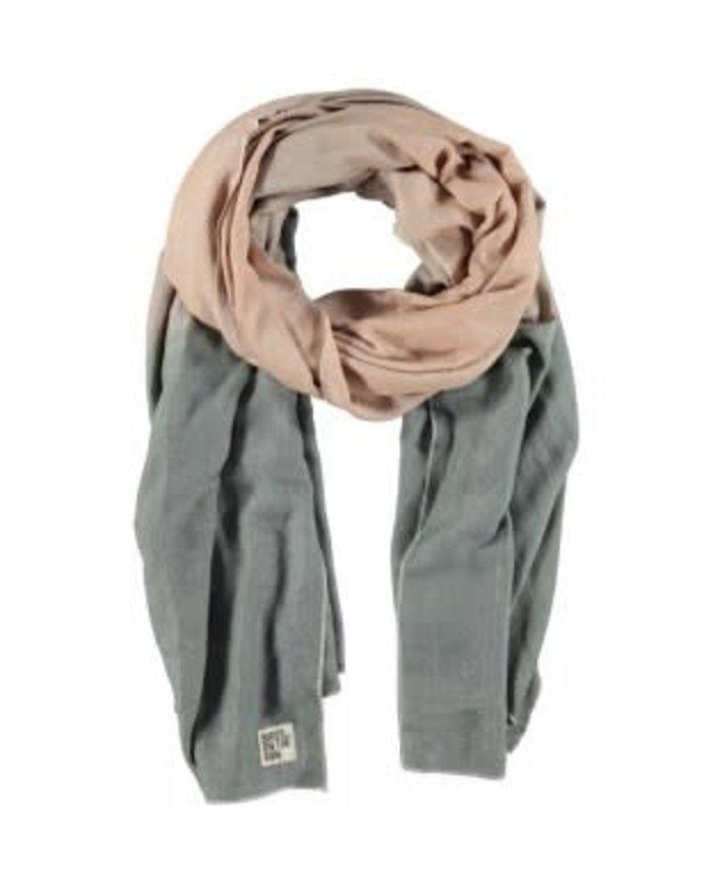 sjaal rose dust/green metallic