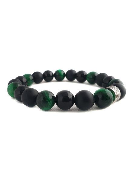 Klein Geluk unisex armband mix zwart-groen