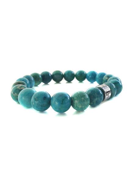 Klein Geluk unisex armband blauw agaat