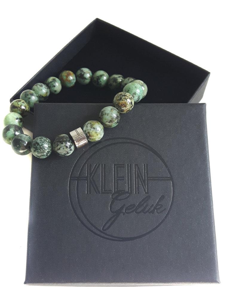 Klein Geluk armband turkoois 10 mm