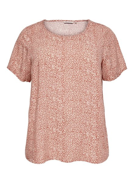 Only Carmakoma tshirt Tonja Etruscan Red MAAT 44
