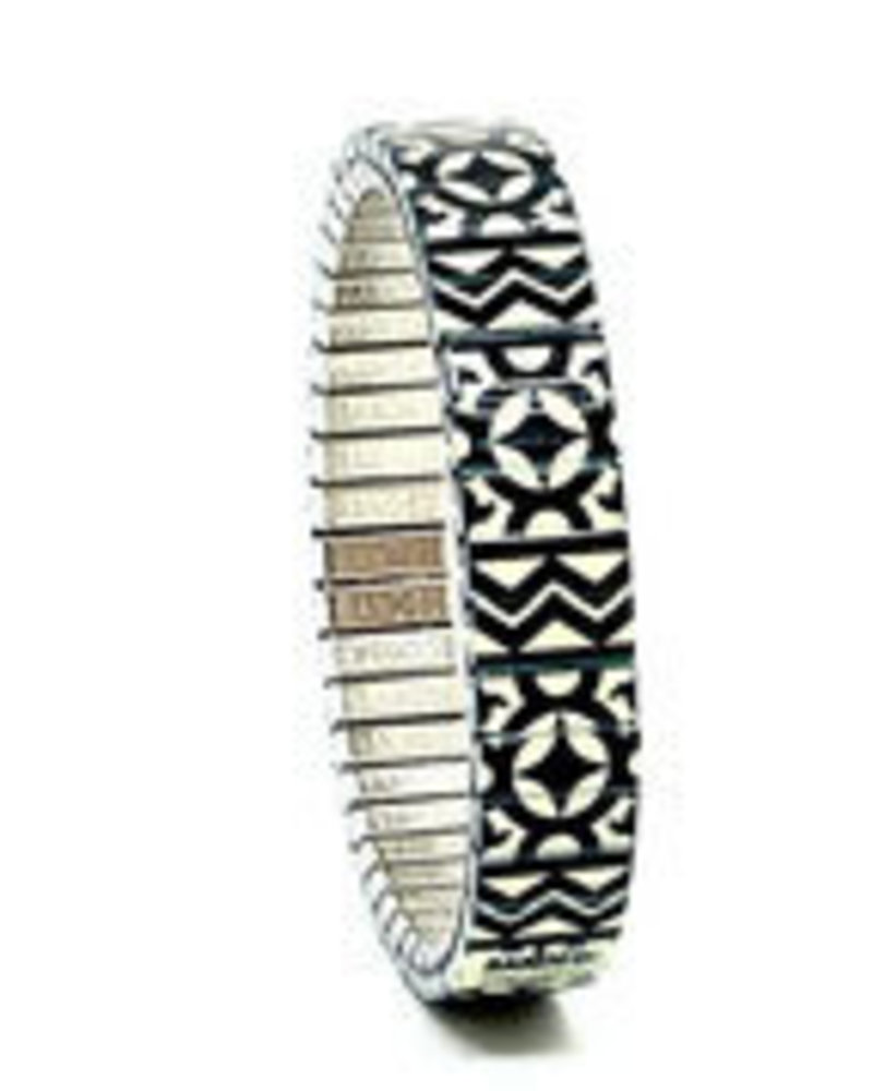 Banded Banded slim Compass to the stars zwart