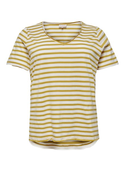 Only Carmakoma Shirt Life stripe golden spice MAAT S