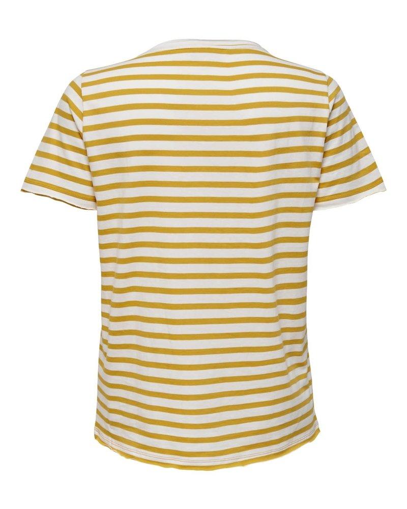 Only Carmakoma Shirt Life stripe golden spice