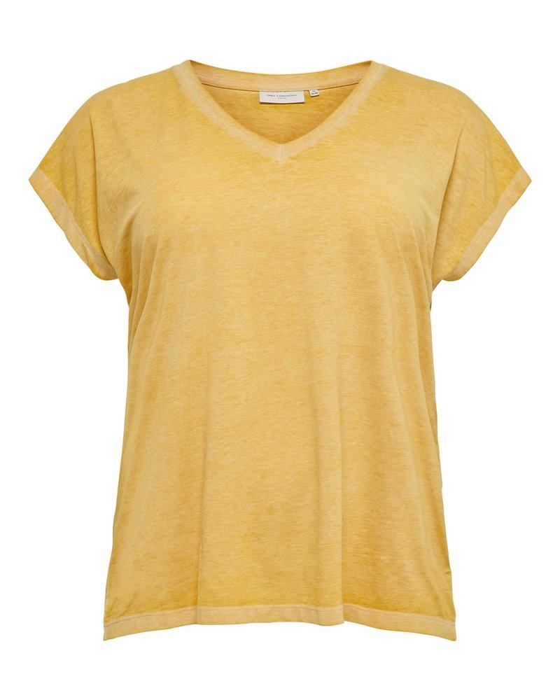 Only Carmakoma tshirt Noizy golden yellow