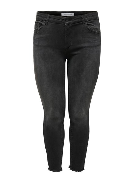 Only Carmakoma Skinny ankle jeans black willy