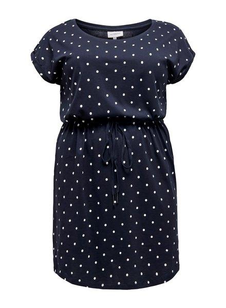 Only Carmakoma dress April navy stripe