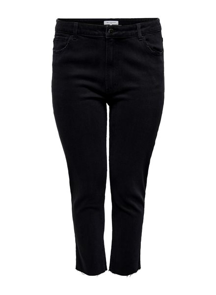Only Carmakoma Straight ankle jeans Mily black denim