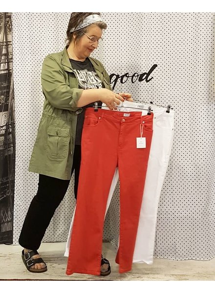 bootcrop jeans black, white, red