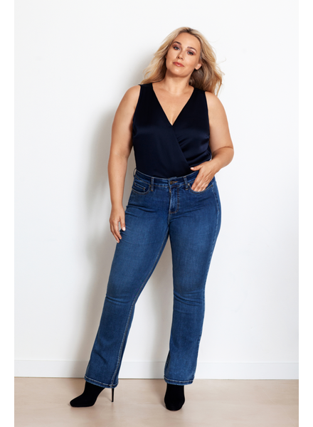 Fox Factor Flare jeans eagle blue  BOBI