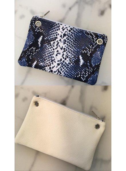 bag snake blauw/cream