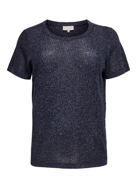 Only Carmakoma Shiny shirt Maggie navy