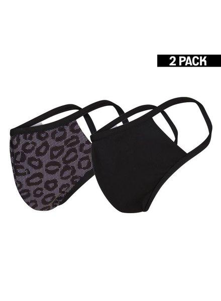 DAMES 2-Pack Mondkapjes Lace/Zwart maat S