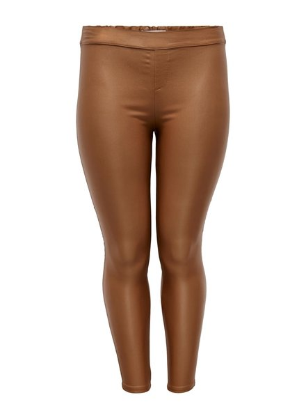 Only Carmakoma coated pants cognac