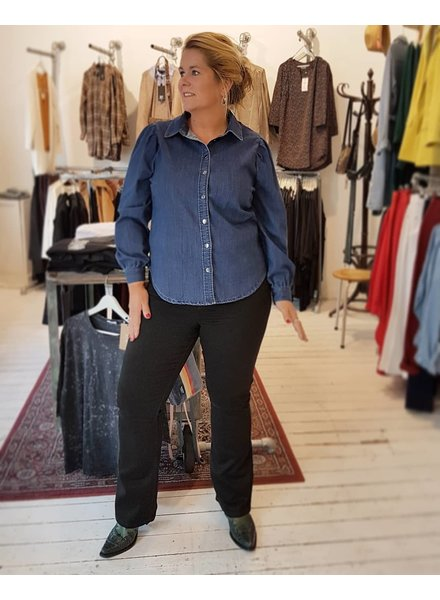 puffed sleeves & flare jeans