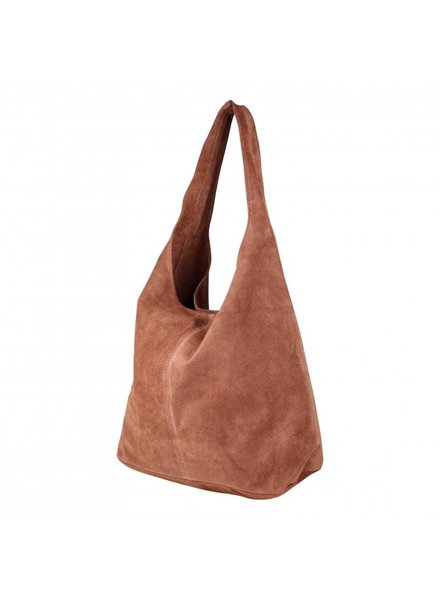 baggy bag suede brique