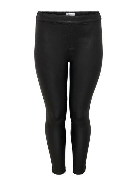 coated pants again black