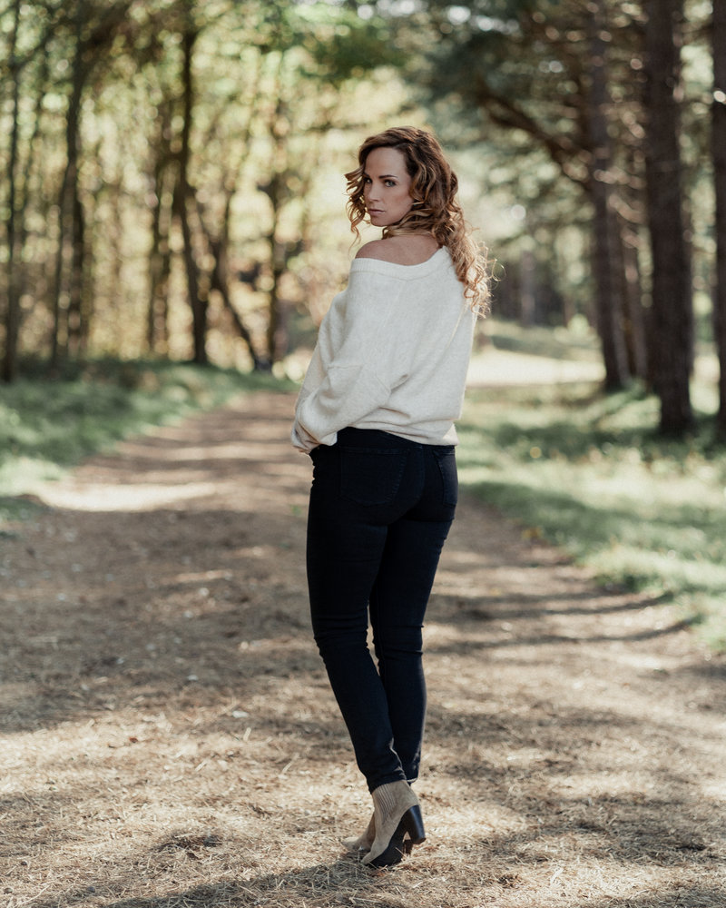 slimfit jeans Emma faded black