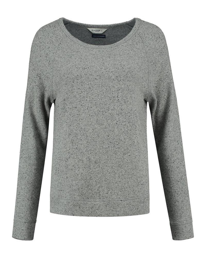 Blue Loop Relax raglan sweater light grey