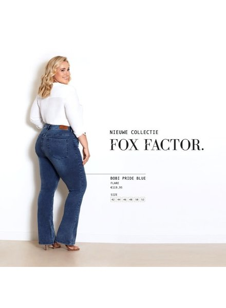 Fox Factor Bobi pride blue flare jeans