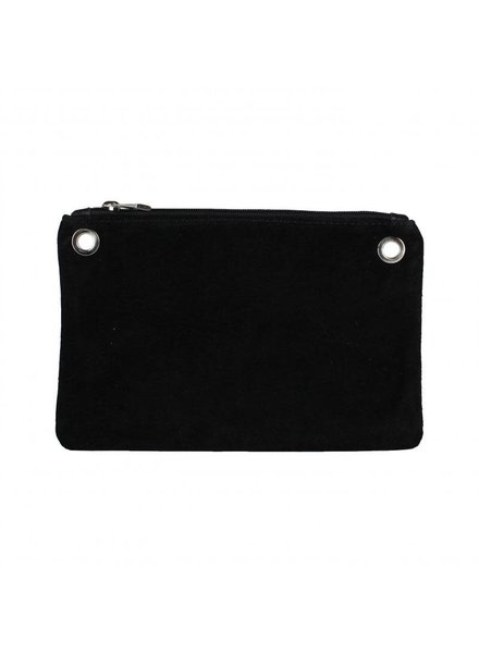 bag black leer/suede