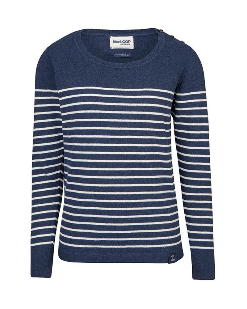 Blue Loop Breton knit navy/white UNISEX