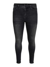 Vero Moda Curve high waist skinny jeans black washed