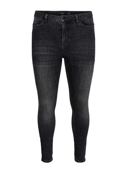 high waist skinny jeans black washed