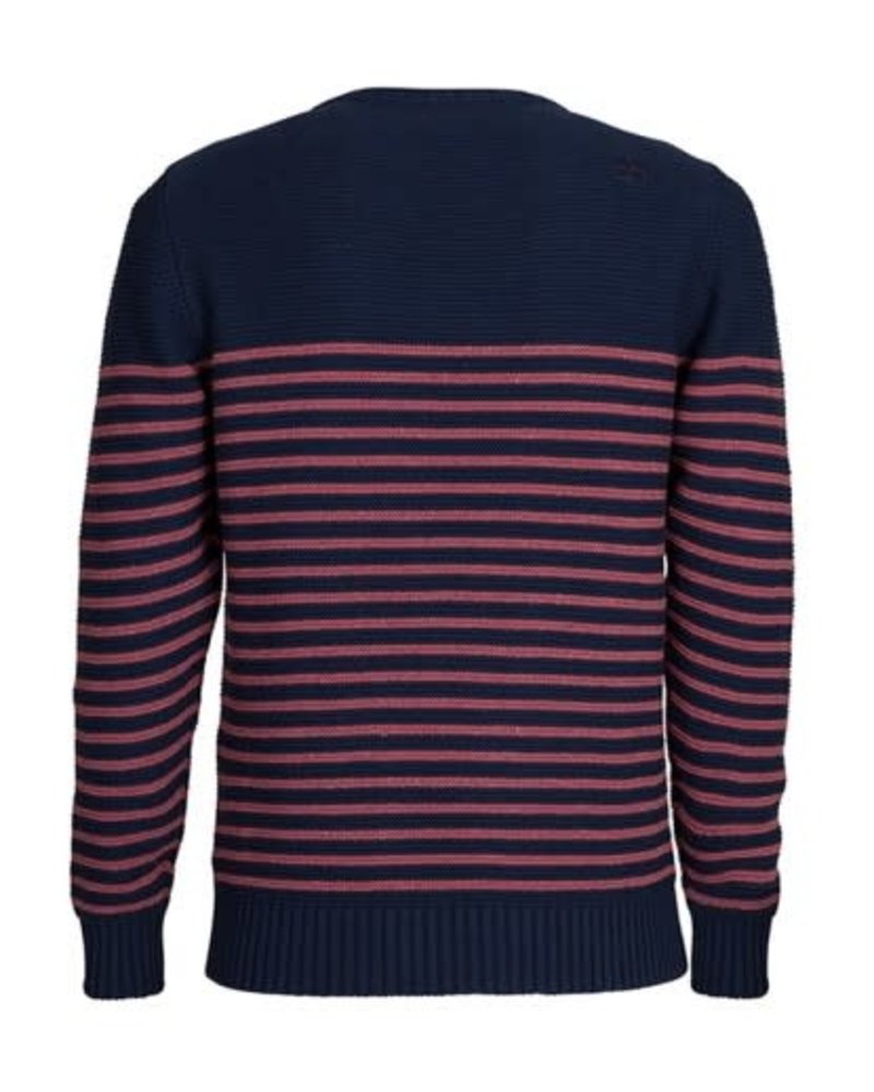Blue Loop Knit breton unisex navy/bordeaux