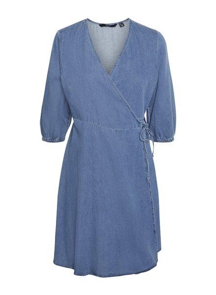 Vero Moda Curve short wrapdress Henna blue