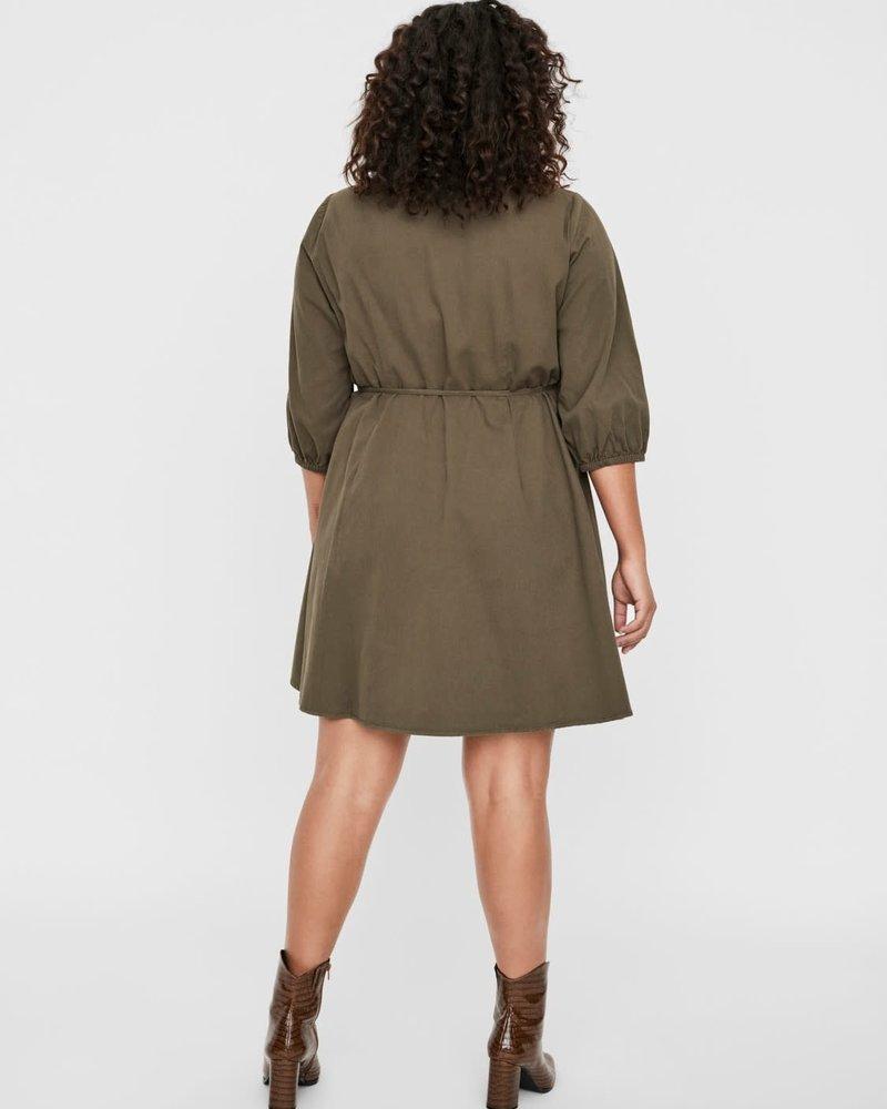 Vero Moda Curve short wrapdress  Henna ivy green