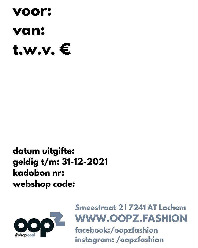 Oopz lockdown bon 25 euro