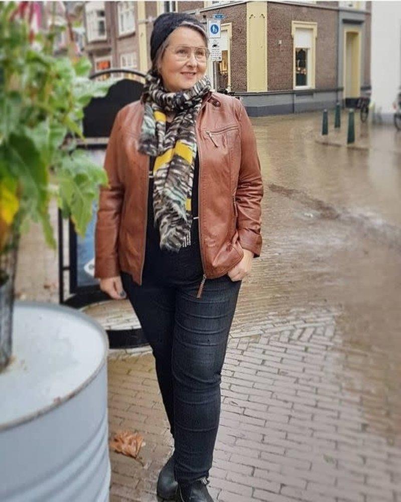leather cognac jacket