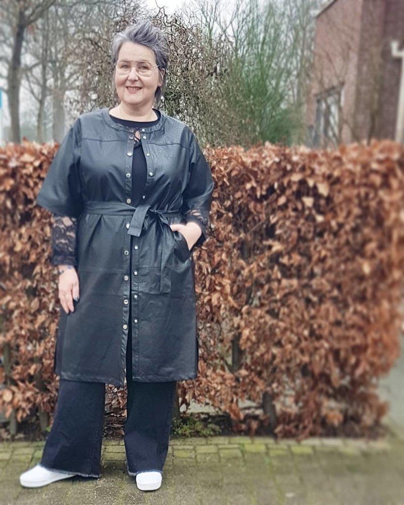 kimono dress leatherlook