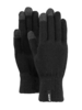 Barts fine knitted touch screen gloves black