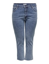 Only Carmakoma straight ankle jeans raw Mily