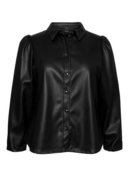 Vero Moda Curve fake leather blouse Lio