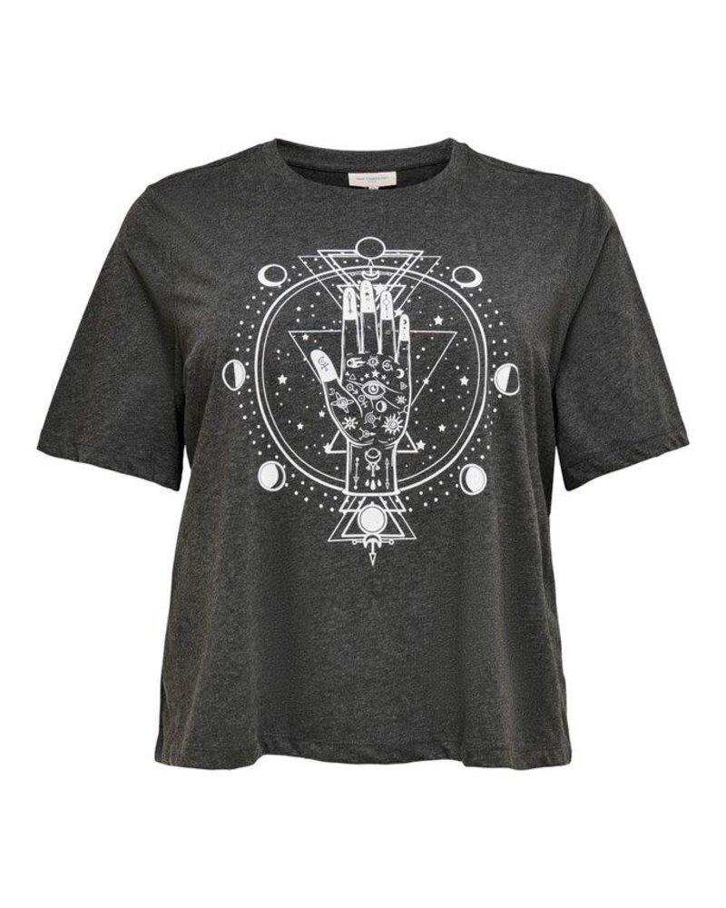 Only Carmakoma Tshirt Luni dark grey melange