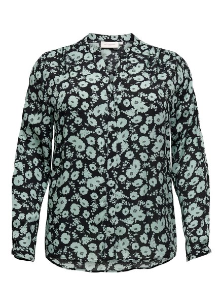Only Carmakoma blouse flower chinois green
