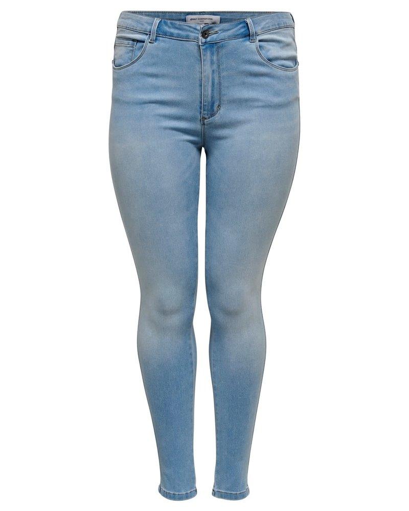 Only Carmakoma augusta skinny jeans light blue