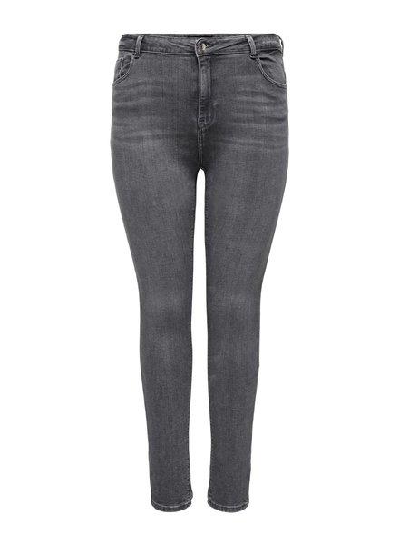 Only Carmakoma high waist kinny jeans grey washed Laola