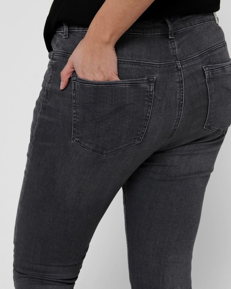 Only Carmakoma high waist kinny jeans grey washed Laola