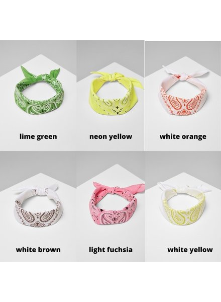 Urban Classics bandana katoen 55x55 diverse kleuren light