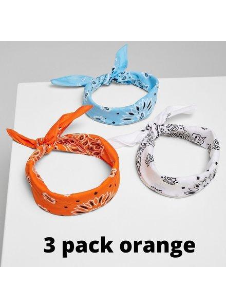 Urban Classics 3-pack bandana's orange/blue/white