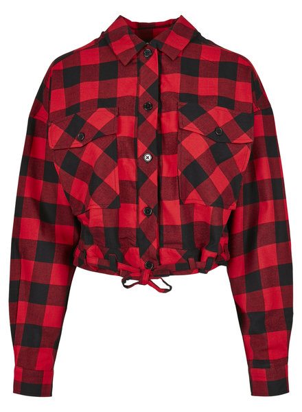 Urban Classics short checkered blouse red/black