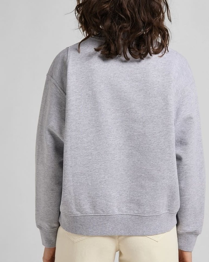 Lee jeans Sweater cut & sew grey melee