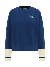Sweater cut & sew washed blue
