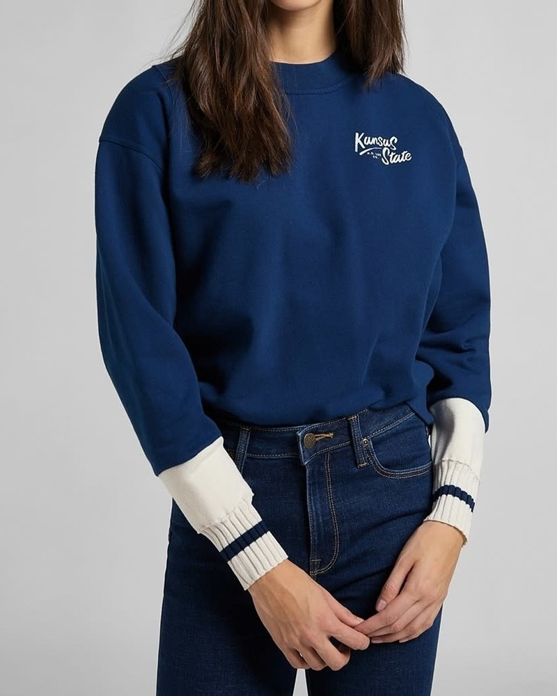 Lee jeans Sweater cut & sew washed blue