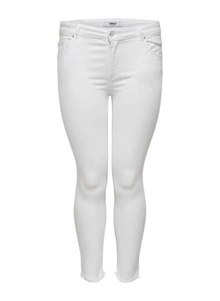 Only Carmakoma Skinny ankle jeans Willy white